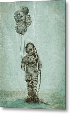 Balloon Fish Metal Print