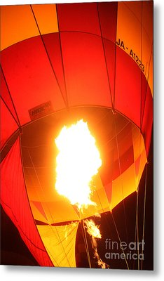 Balloon-glow-7917 Metal Print by Gary Gingrich Galleries