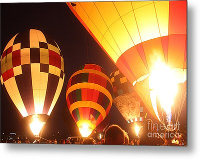 Balloon-glow-7950 Metal Print by Gary Gingrich Galleries