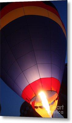 Balloon-glowpurple-7710 Metal Print by Gary Gingrich Galleries