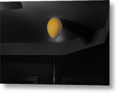 Balloon On Ceiling Metal Print by J Riley Johnson
