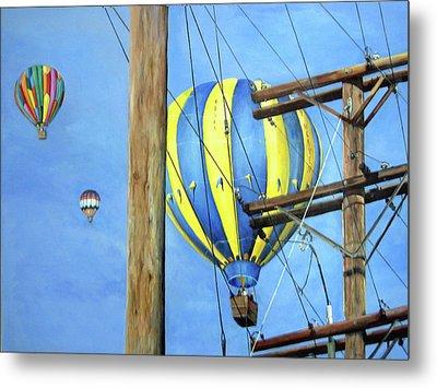 Balloon Race Metal Print by Donna Tucker