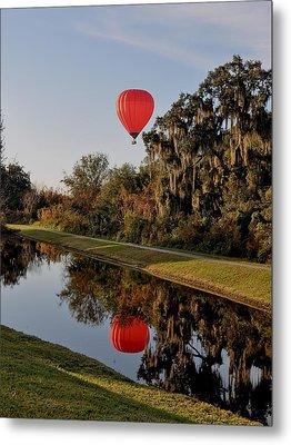 Balloon Reflection Metal Print by John Black