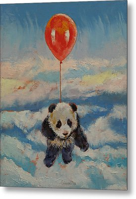 Balloon Ride Metal Print by Michael Creese