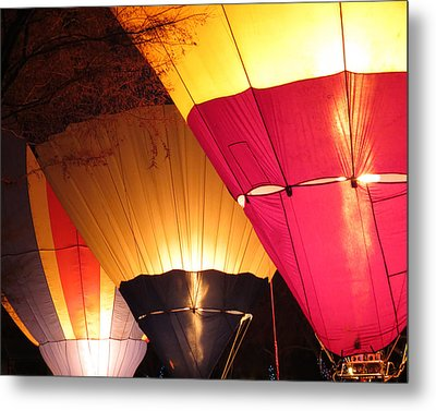 Balloons At Night Metal Print by Laurel Powell