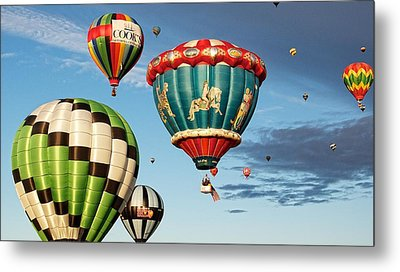 Metal Print featuring the photograph Balloons Away by Dave Files