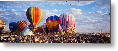 Balloons Being Launched Metal Print
