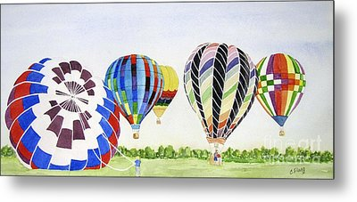 Metal Print featuring the painting Balloons by Carol Flagg