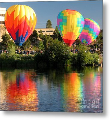 Metal Print featuring the photograph Balloons Over Bend Oregon by Kevin Desrosiers