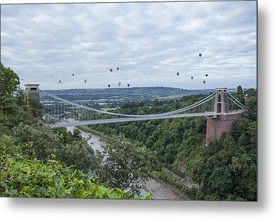 Metal Print featuring the photograph Balloons Over Clifton by Stewart Scott