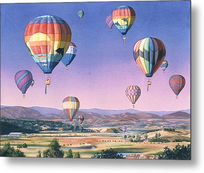 Balloons Over San Dieguito Metal Print by Mary Helmreich
