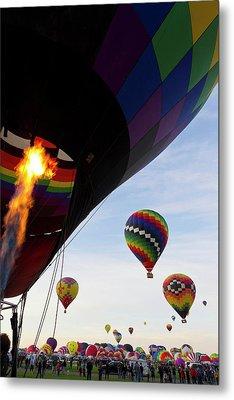 Balloons Preparing To Leave Metal Print by Maresa Pryor