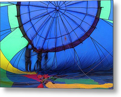 Balloons Setting Up For The Mass Metal Print by Maresa Pryor
