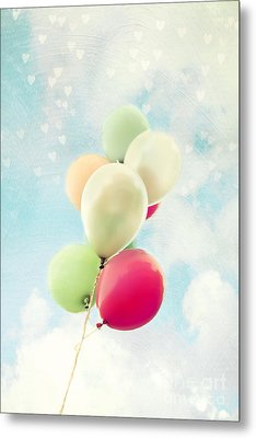 Balloons Metal Print by Sylvia Cook