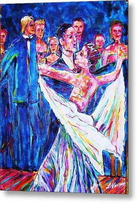 Ballroom Compitition Metal Print by Linda Vaughon