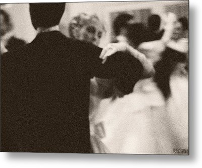 Ballroom Dancers Viennese Waltz Metal Print by Beverly Brown