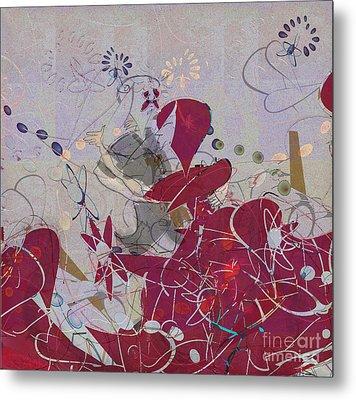 Metal Print featuring the digital art Ballroom Dancing Party by Gabrielle Schertz