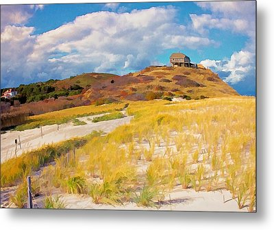 Metal Print featuring the photograph Ballston Beach Dunes Photo Art by Constantine Gregory