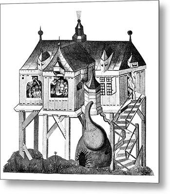 Balneology, German Bath House, 1405 Metal Print