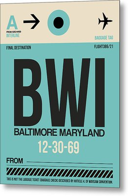 Baltimore Airport Poster 1 Metal Print by Naxart Studio