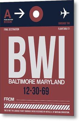Baltimore Airport Poster 2 Metal Print
