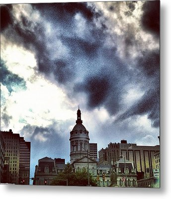 Baltimore City Hall Metal Print