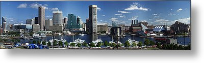 Metal Print featuring the photograph Baltimore Inner Harbor Panorama by Bill Swartwout