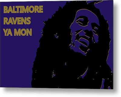 Baltimore Ravens Ya Mon Metal Print by Joe Hamilton