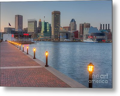 Baltimore Skyline At Twilight I Metal Print