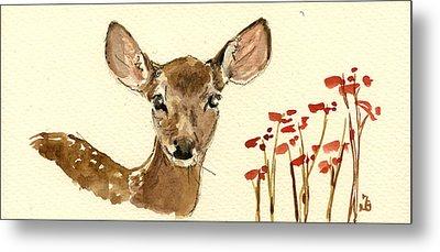 Bambi Metal Print by Juan  Bosco