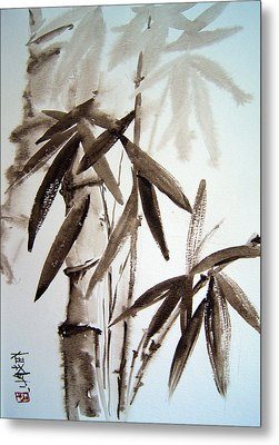 Bamboo Metal Print by Alena Samsonov