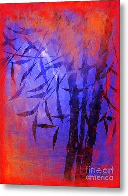 Bamboo Blue Metal Print by Lutz Baar