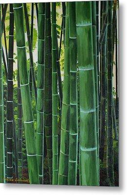 Bamboo Metal Print by Chikako Hashimoto Lichnowsky