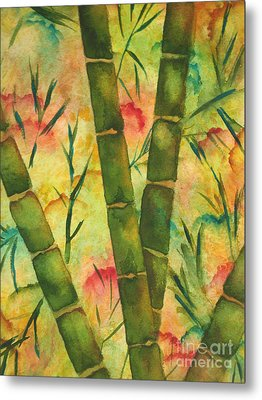 Metal Print featuring the painting Bamboo Garden by Chrisann Ellis