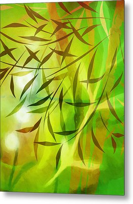 Bamboo Light Metal Print by Lutz Baar