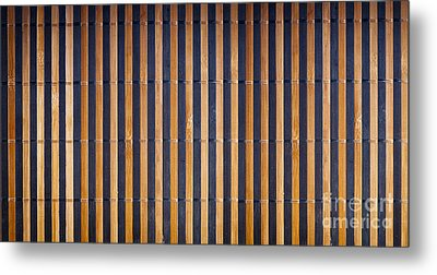 Bamboo Mat Texture Metal Print by Tim Hester