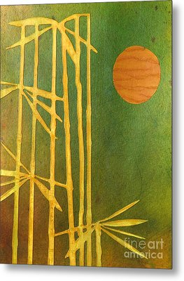 Bamboo Moon Metal Print by Desiree Paquette