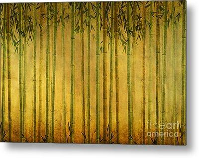 Bamboo Rising Metal Print