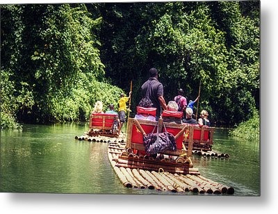 Metal Print featuring the photograph Bamboo River Rafting by Melanie Lankford Photography