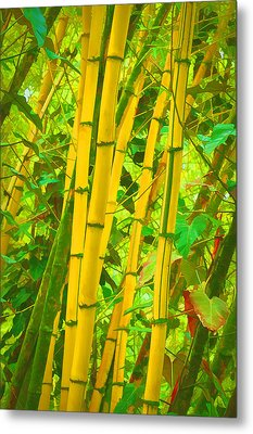 Bamboo Trees Metal Print by Art Brown