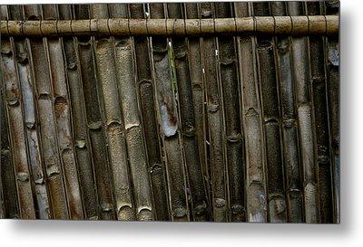 Bamboo Underside Wall Metal Print