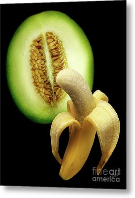 Banana And Honeydew Metal Print