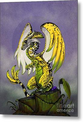 Banana Dragon Metal Print
