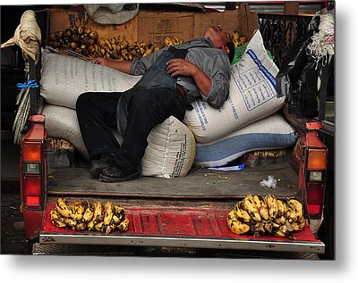Banana Man Metal Print