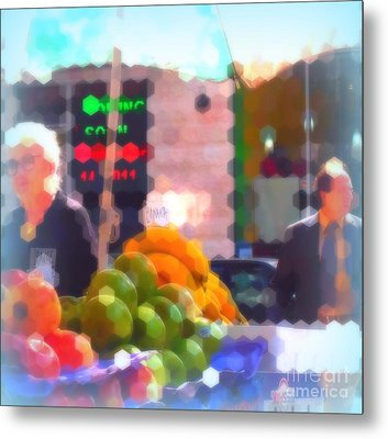 Banana - Street Vendors Of New York City Metal Print by Miriam Danar