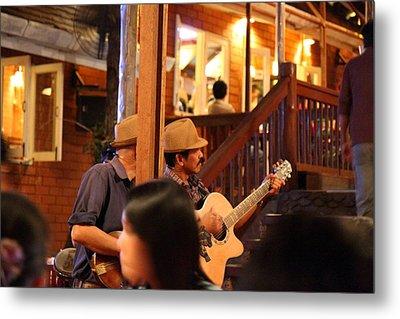 Band At Palaad Tawanron Restaurant - Chiang Mai Thailand - 01131 Metal Print by DC Photographer