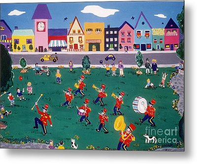 Metal Print featuring the painting Band Practice by Joyce Gebauer