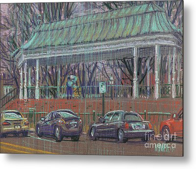 Band Stand Metal Print by Donald Maier