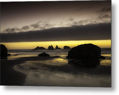 Bandon By The Sea Metal Print by Jean-Jacques Thebault