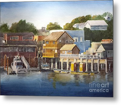 Bandon Harbor - Oregon Metal Print by Anthony Coulson